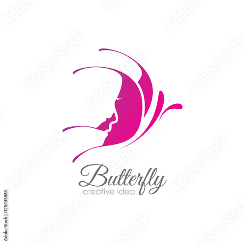 quotcreative butterfly logo quot stock image and royaltyfree