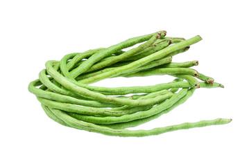 Yard Long bean isolated on white background