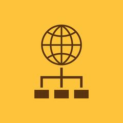 The SEO icon. WWW and browser, development, search, SEO symbol. UI. Web. Logo. Sign. Flat design. App.