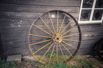 ancient metal wheel