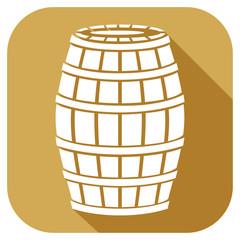 wooden barrel flat icon