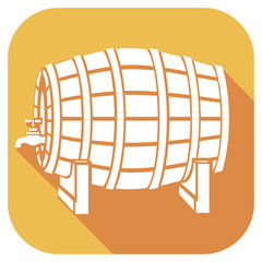 beer barrel flat icon