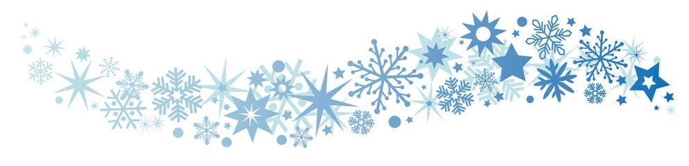 Weihnachtliche Dekoration blauer Sternenschweif