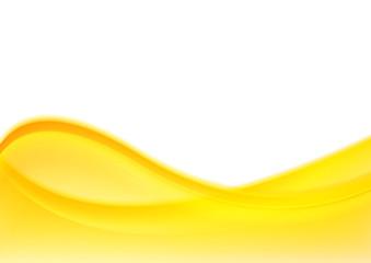 Abstract bright yellow shiny waves