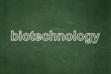 Science concept: Biotechnology on chalkboard background