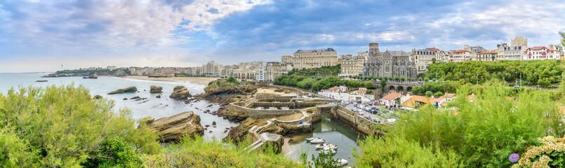 Panoramic view at the Biarritz - France
