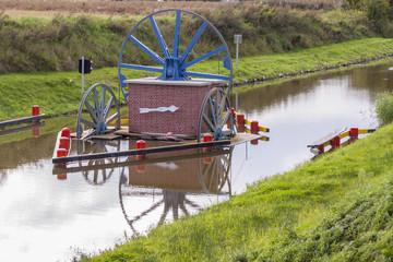 Historic canal near Elblag. Jelenie ramp.