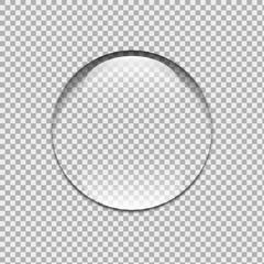 Water drop. Glass sphere. Bubble