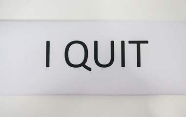business icon of I quit job by print