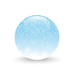 Snow ball illustration