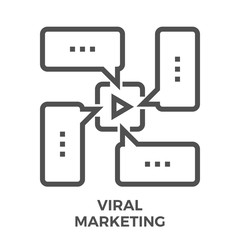 Viral marketing line icon