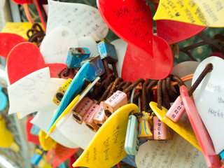 The Love Key Ceremony at Yongdusan park in Busan, Korea