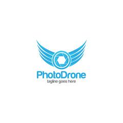 drone camera photography concept logo icon