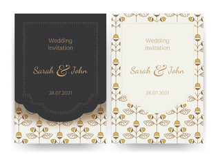 Vector invitation or greeting card templates.