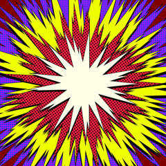 Explosion steam bubble pop-art web header set - funny funky banner comics background. Vector illustration