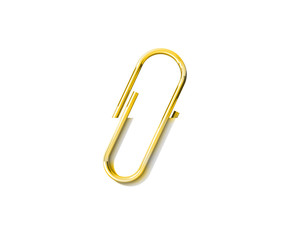 Paper clip isolated on a white background