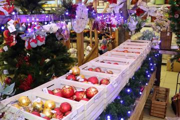 fair, basket, Christmas decoration, sale