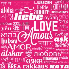 amour,multilingue