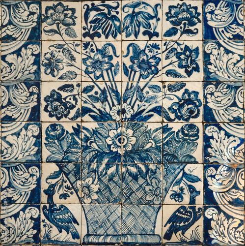 Cer mica portuguesa azul con florero lisboa portugal Ceramica portuguesa online