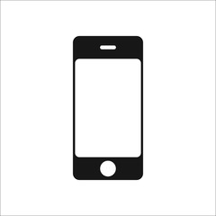 Phone Smartphone symbol silhouette icon on background