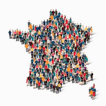 people map country France vector
