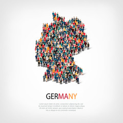 people map country Germany vector