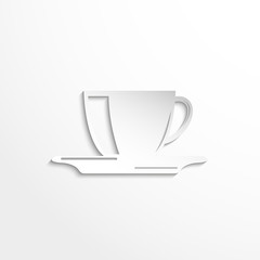 A cup of coffee. Vector icon.