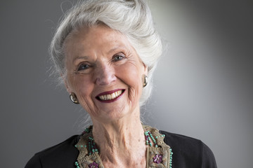 Portrait of a mature senior woman smiling
