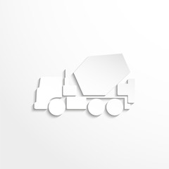 Truck. Vector icon