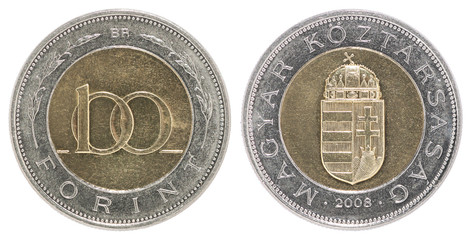 Hungarian 100 coin foint