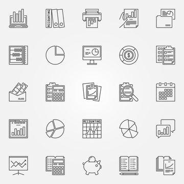 Accounting icons set