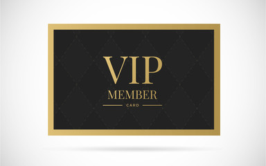 Vip member card vector design illustration