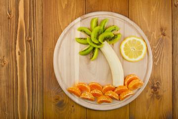 Summer still life of fresh fruit.