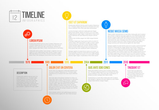 Multicolored Tab Timeline Infographic