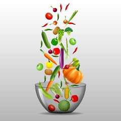 Cooking infographics. Fresh salad. Detailed Vector Icon. Series of food and drink and ingredients for cooking