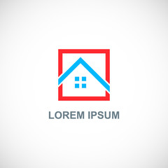 square home roof logo