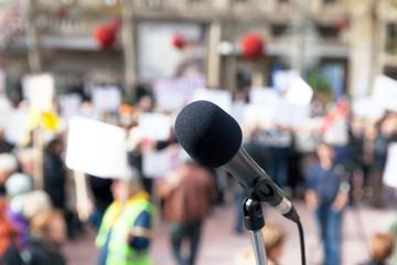 Protest. Public demonstration.
