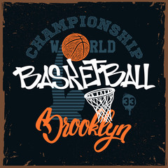 Basketball t-shirt print design for apprel