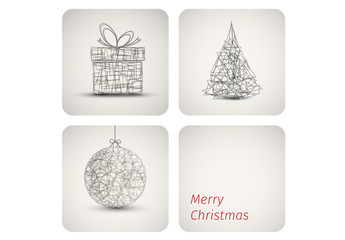 Geometric Christmas Decorations Banner