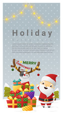 Christmas background Merry Christmas with Santa Claus , vector , illustration