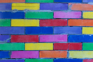 Multicolored wall