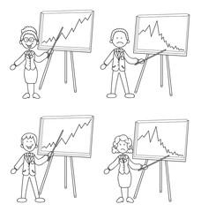 Steigende und fallende Aktienkurse