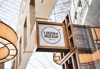 Store Brand Sign Mockup 3
