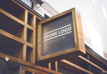 Store Brand Sign Mockup 4