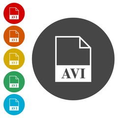 AVI file icons set