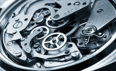vintage watch machinery macro detail monochrome Wall mural