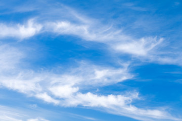 Natural blue cloudy sky at daytime