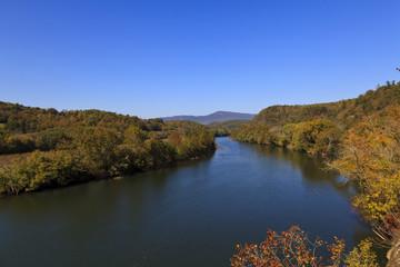 James River in Virginia in the Fall Season