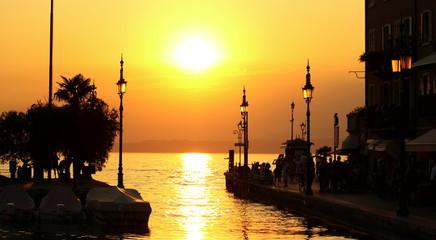 Tramonto porto di Lazise