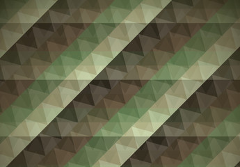 Green Military Camouflage Inspired Geometric Pattern 3